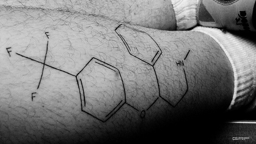 Leg tattoo, geometric, drawings