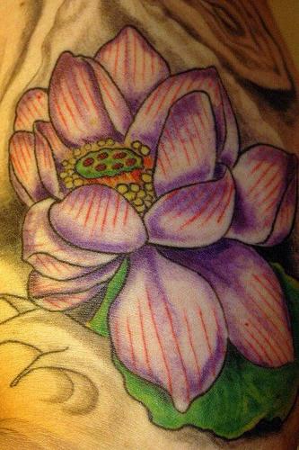 Pale purple lotus classic tattoo