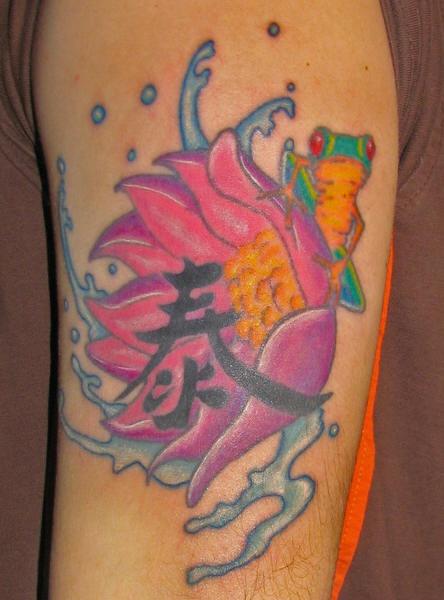 Chinese Lotus Flower Tattoos