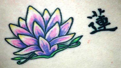Pale purple lotus tattoo