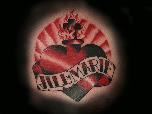 Jill and marie in sacred heart tattoo