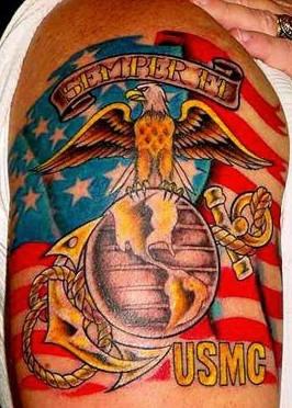 Super patriotic usa military tattoo