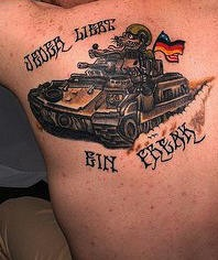 German military tank tattoo