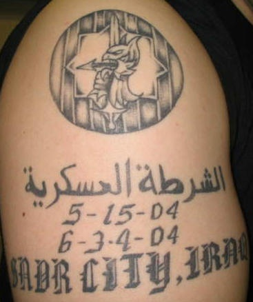 Military memorial tattoo from iraq