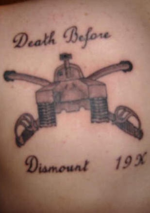 Death before dismount tank tattoo