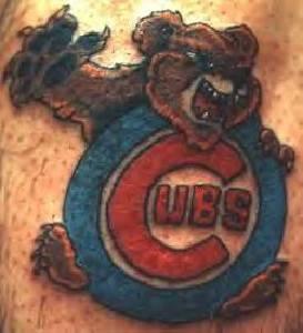 Bear cubs team logo tattoo