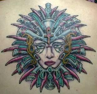 Neo futuristic queen tattoo