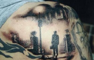Noir city view tattoo