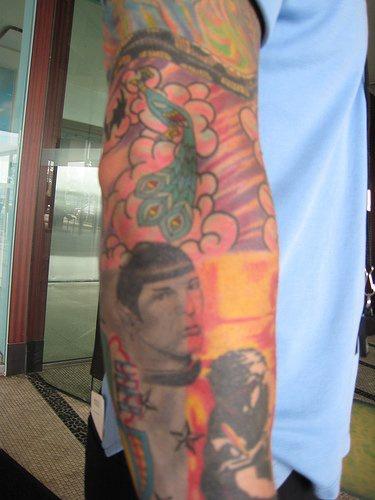 Star trek themed sleeve tattoo