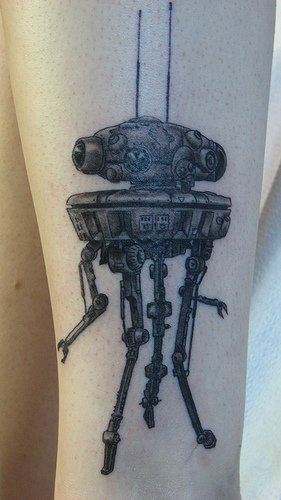 Scout droid from star wars tattoo