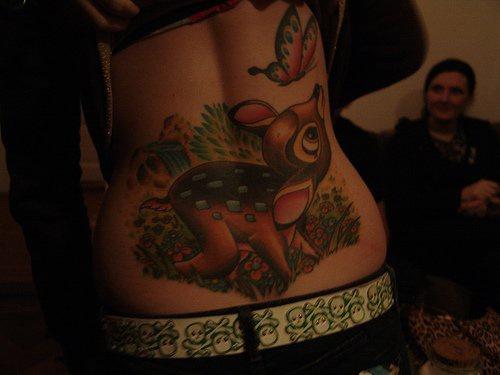 Cute reindeer bambi girly tattoo