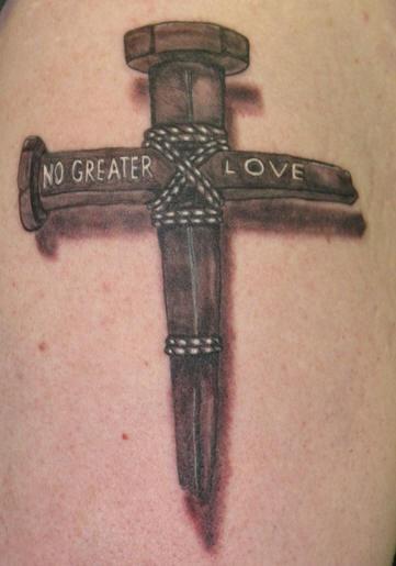 Tatuaje De Cruz Cristiana De Clavo De Hierro Tattooimagesbiz