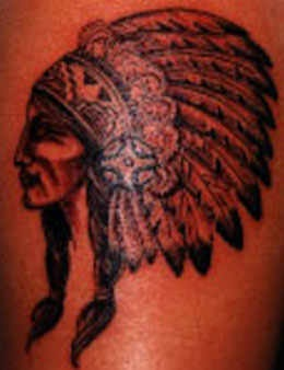 Indian chief profile tattoo
