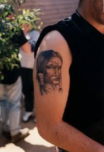 Tirtatto di capopopolo indiano tatuaggio