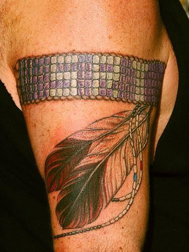 Srt initials on indian pattern armband