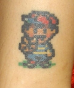 Mario tatuaggio colorato