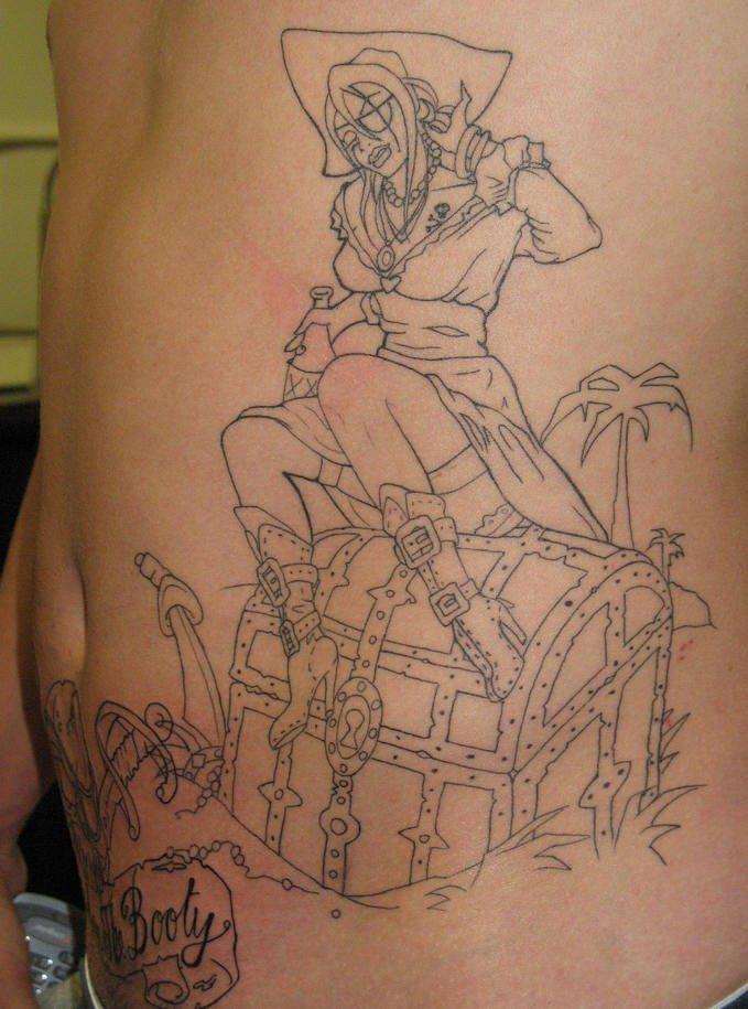 Pirata tatuaggio nero