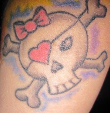 Girly pirate symbol tattoo
