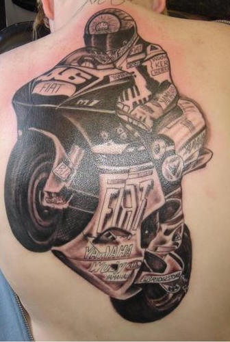 Ducati racing bike tattoo