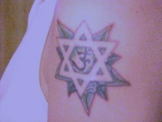 Simbolo ebreo tatuaggio