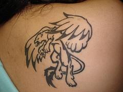 Leone nero tatuaggio