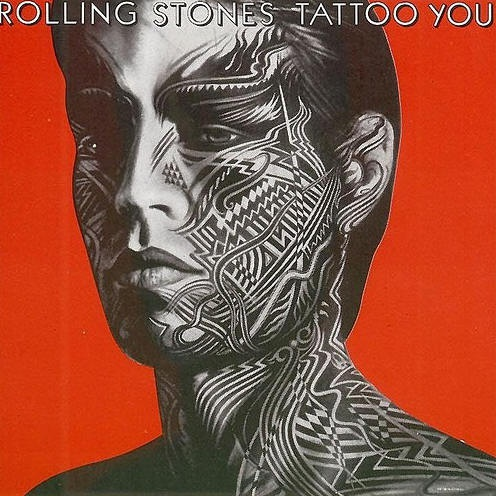 Rolling stones face tattoo