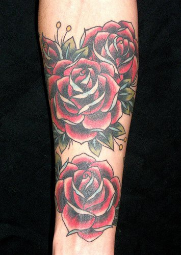 Lush Red Rose Sleeve Tattoo Tattooimagesbiz