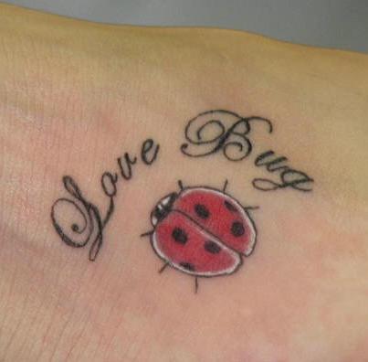 Love bug little ladybug tattoo