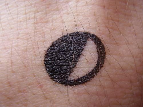 Small minimalistic moon tattoo