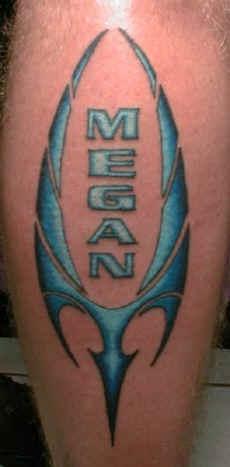Megan blue symbol tattoo