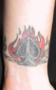Flaming ace of spades tattoo