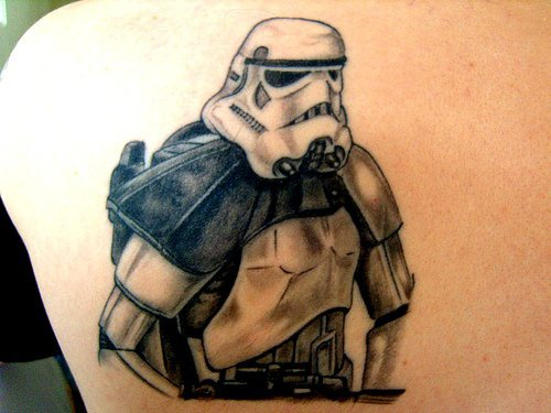 Tattoo of imperial stormtrooper