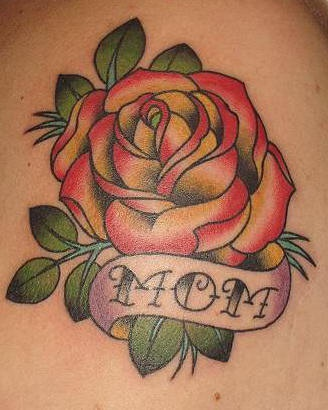 Traditional Style Red Rose Tattoo Tattooimagesbiz
