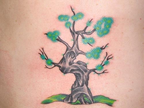 Small tattoo of tree nice style