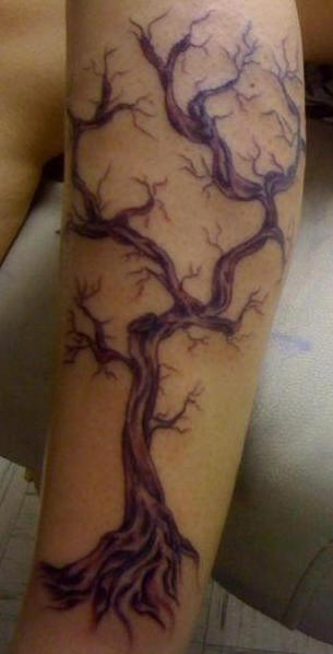 Pretty cool tattoo of withered tree