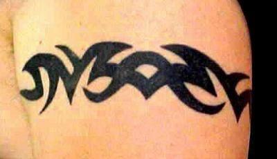 Simple tribal black  bracelet tattoo