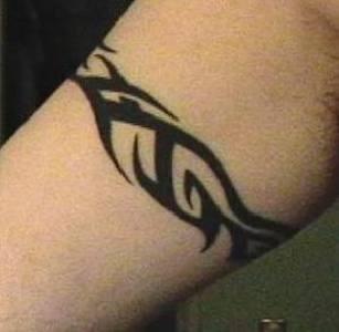 Black tribal classic bracelet tattoo