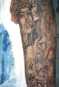 Viking tattoo on whole hand