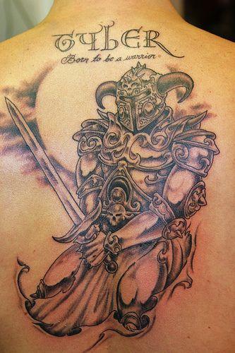 Nice viking tattoo art on back