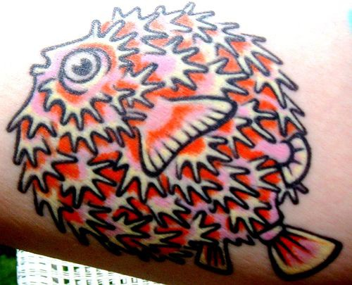 Tattoo with pretty nice fish spike