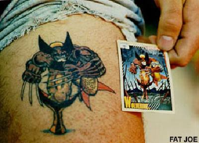 Classic costume wolverine x-men tattoo