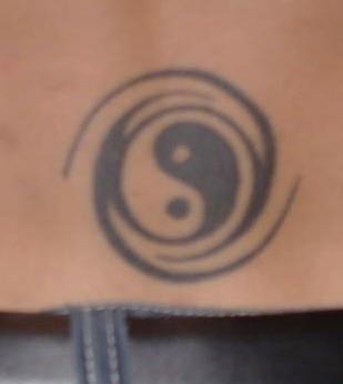 Classic black yin yang tattoo