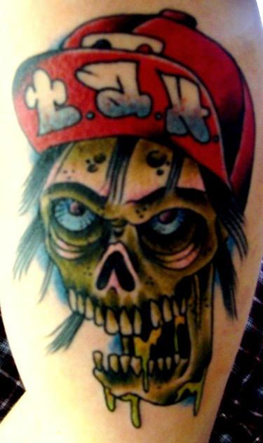 Zombie boy tattoo