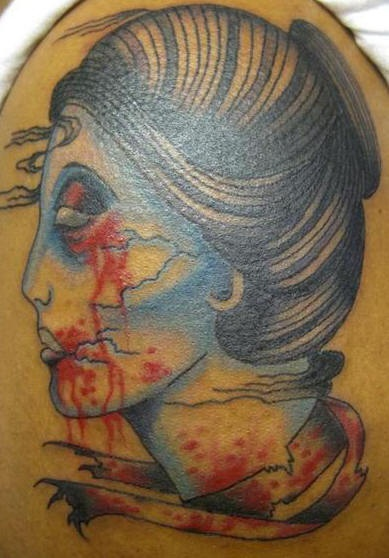 Zombie woman head