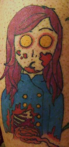 Simple zombie tattoo