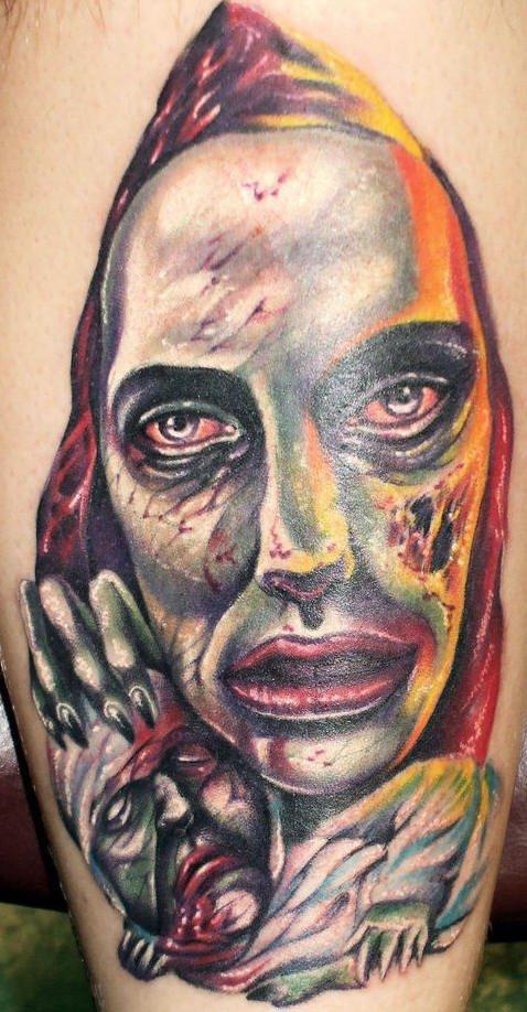 Strange zombie tattoo
