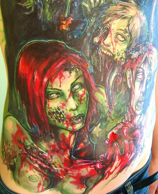 Big zombie tattoo
