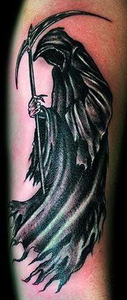terribile morte tatuaggio da Robert Kidd
