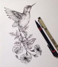 hummingbird tattoo designs page 6. Black Bedroom Furniture Sets. Home Design Ideas