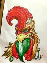 rooster tattoo designs page 5. Black Bedroom Furniture Sets. Home Design Ideas